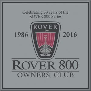 Rover 800 OC 30th sticker